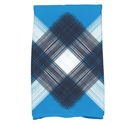 Hancock Geometric Print Hand Towel Color: Blue