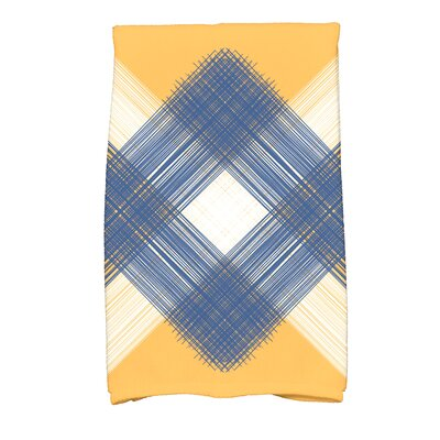 Hancock Geometric Print Hand Towel Color: Yellow
