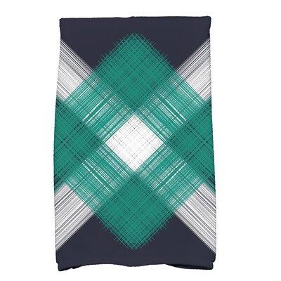 Hancock Geometric Print Hand Towel Color: Navy Blue