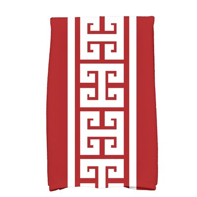 Hancock Key Novelty Print Hand Towel Color: Red