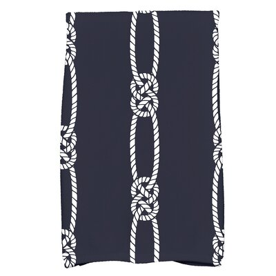 Hancock Tom Foolery Stripe Print Hand Towel Color: Navy Blue