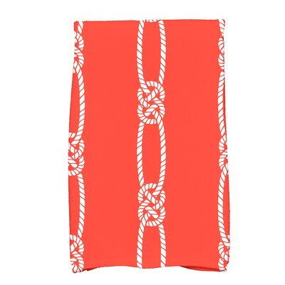 Hancock Tom Foolery Stripe Print Hand Towel Color: Orange