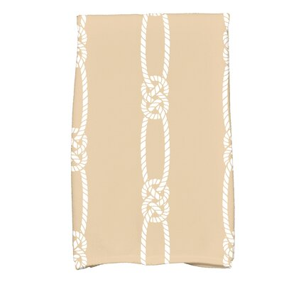 Hancock Tom Foolery Stripe Print Hand Towel Color: Beige/Taupe