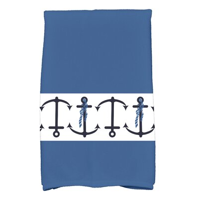 Hancock Anchor Print Hand Towel Color: Blue