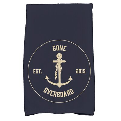 Hancock Gone Overboard Print Hand Towel Color: Navy Blue