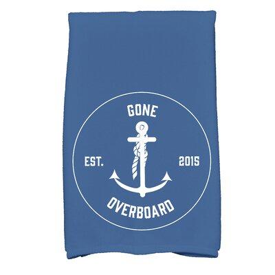 Hancock Gone Overboard Print Hand Towel Color: Blue