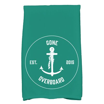 Hancock Gone Overboard Print Hand Towel Color: Green