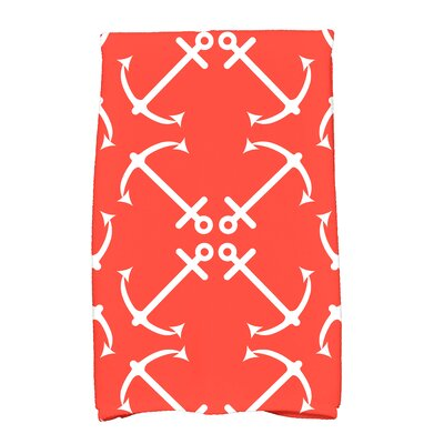 Hancock Anchor's Up Hand Towel Color: Orange