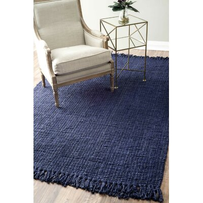 Elana Loop Hand-Woven Navy Area Rug Rug Size: Rectangle 76 x 96