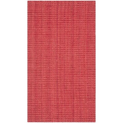 Breakwater Bay Weatherhill Hand-Woven Red Area Rug