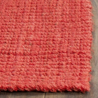 Weatherhill Hand-Woven Red Area Rug Rug Size: Rectangle 4 x 6