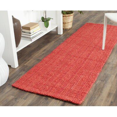 Weatherhill Hand-Woven Red Area Rug Rug Size: Runner 23 x 9