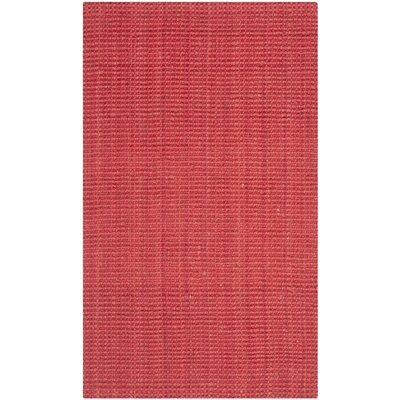 Weatherhill Hand-Woven Red Area Rug Rug Size: 3' x 5'
