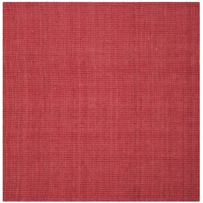 Weatherhill Hand-Woven Red Area Rug Rug Size: Square 4'