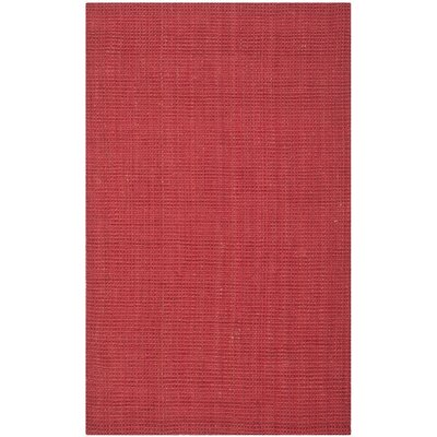 Weatherhill Hand-Woven Red Area Rug Rug Size: 5' x 8'