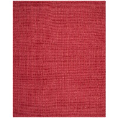 Weatherhill Hand-Woven Red Area Rug Rug Size: 8' x 10'
