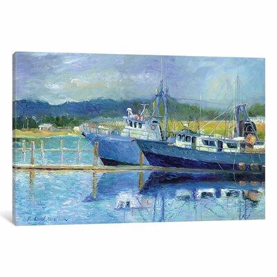 Fishing Boats on Oregon Coast I Painting Print on Wrapped Canvas Size: 12