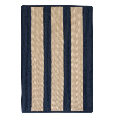 Seal Harbor Navy Indoor/Outdoor Area Rug Rug Size: 5 x 8