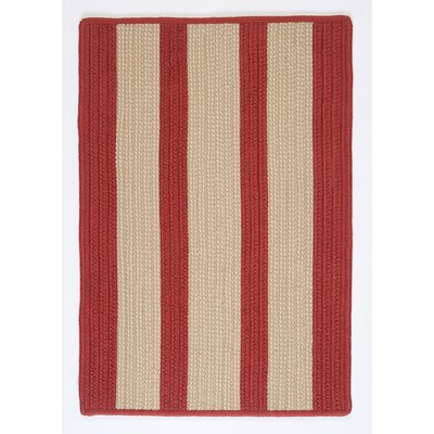 Seal Harbor Rust Red Indoor/Outdoor Area Rug Rug Size: 5 x 8