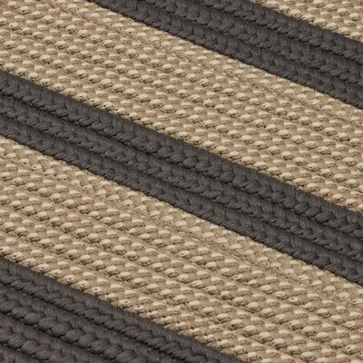 Seal Harbor Hand-Woven Gray Outdoor Area Rug Rug Size: Rectangle 4 x 6