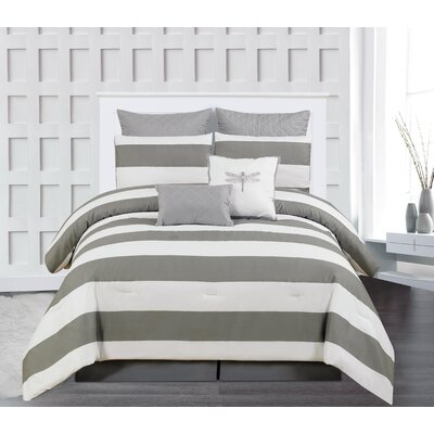 Whimbrel 7 Piece Comforter Set Size: King