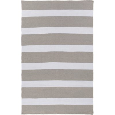 Peugeot Gray/Ivory Indoor/Outdoor Area Rug Rug Size: 5 x 8