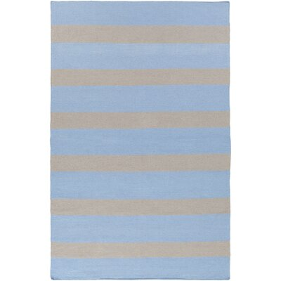 Concord Sky Blue/Light Gray Indoor/Outdoor Area Rug Rug Size: 5' x 8'