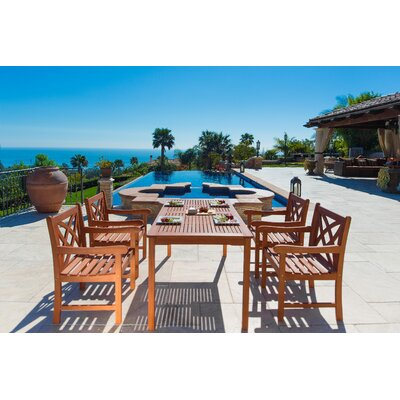 Monterry Traditional 5 Piece Wood Dining Set