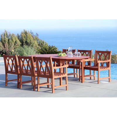 Blythe 7 Piece Dining Set Table Size: 82