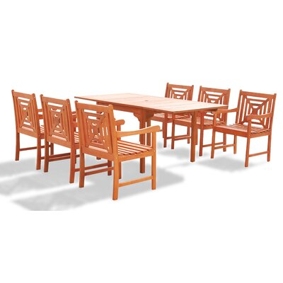 """ShoppingCadeaux.com view picture of Blythe 7 Piece Dining Set Table Size: 59"""""""