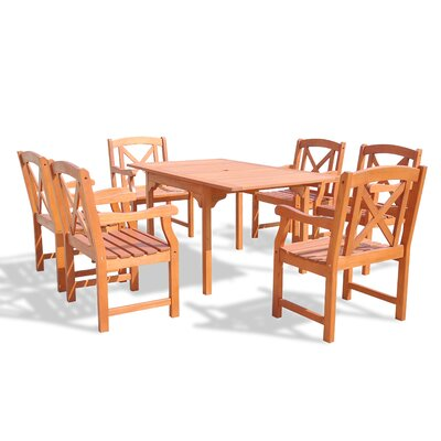 Blythe 7 Piece Dining Set Table Size: 59