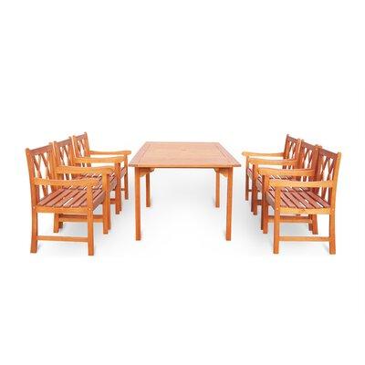 Blythe 7 Piece Dining Set Table Size: 71