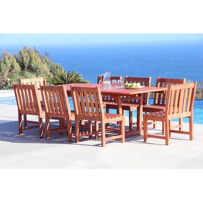 Monterry 9 Piece Wood Dining Set