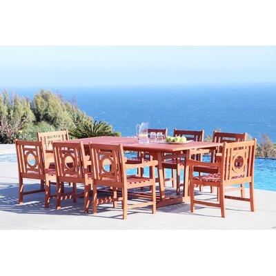 Monterry 9 Piece Eucalyptus Hardwood Dining Set