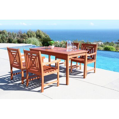 Monterry 5 Piece Eucalyptus Hardwood Dining Set