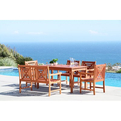 Monterry 6 Piece Solid Wood Dining Set
