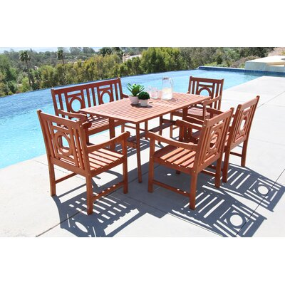 Monterry 6 Piece Wood Dining Set