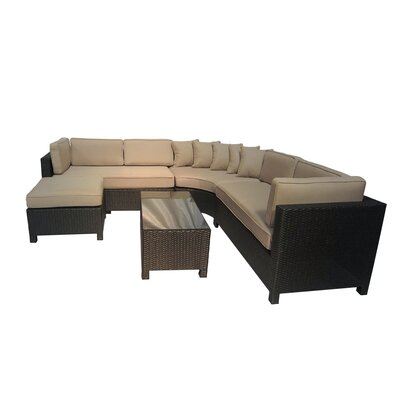Brookfield 5 Piece Sectional Seating Group with Cushions