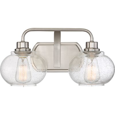 Branchview 2-Light Vanity Light Finish: Brushed Nickel