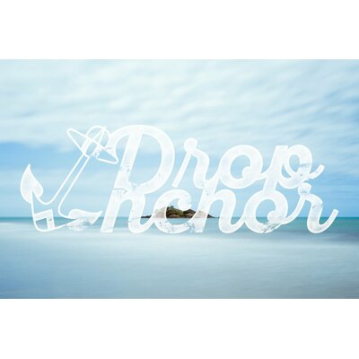 Drop Anchor Graphic Art Wrapped on Canvas