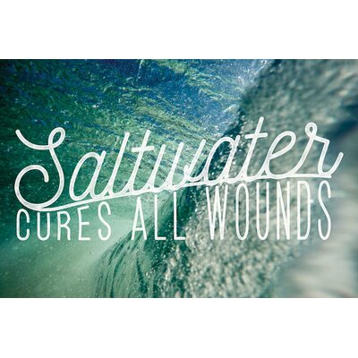 Saltwater Textual Art on Wrapped Canvas Size: 12