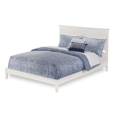 Graham Panel Bed Color: White, Size: Queen