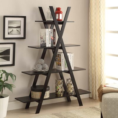 Washington 59 Accent Shelves Bookcase Finish: Black