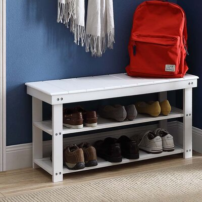 Washington Wood Entryway Bench Finish: White