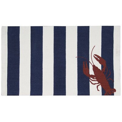 Garner Navy/White Area Rug