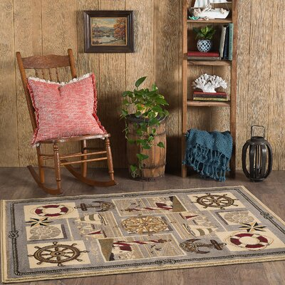 Averill Gray/Beige Area Rug Rug Size: Rectangle 4 x 6