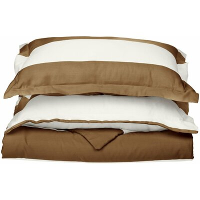 Silva Reversible Duvet Cover Set Color: Taupe, Size: Full/Queen