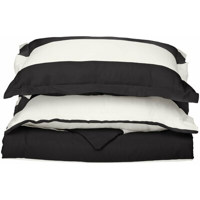 Silva Reversible Duvet Cover Set Color: Black, Size: Twin
