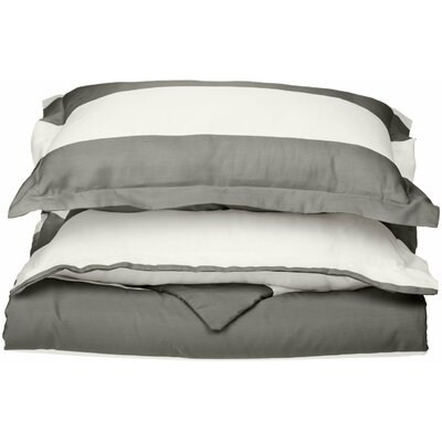 Silva Reversible Duvet Cover Set Color: Grey, Size: Twin