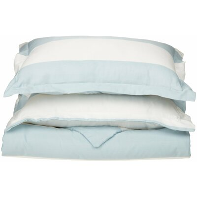 Ariel Striped Reversible Duvet Cover Set Size: Full/Queen, Color: Light Blue